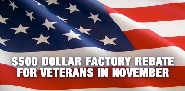 Factory Rebate for Veterans
