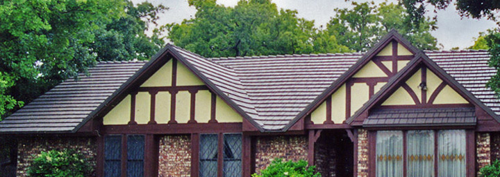 Steel Shingles in Brown