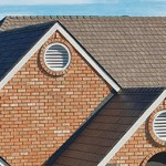 Steel shingles on house